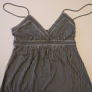 American Eagle Navy White Striped Strappy Tank Top